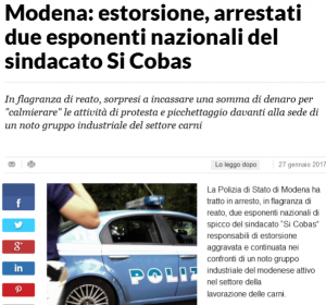 screenshot notizia da quotidiano on line La Repubblica